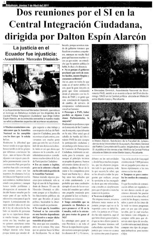 Publicado en informativo Riosense